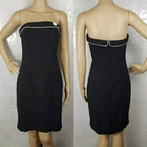 S/6 Express black strapless bodycon formal dress